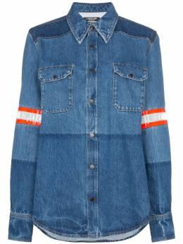 Calvin Klein 205W39nyc джинсовая рубашка с полосками и эффектом обесцвечивания 91WDTA06