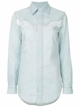 Ganni джинсовая рубашка 'Trinity' F3154