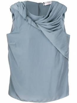 Lanvin блузка без рукавов с драпировками RWTO614U2638P19