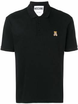 Moschino футболка-поло с принтом медведя A12030242
