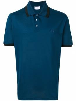 Salvatore Ferragamo рубашка-поло с контрастной отделкой 709290