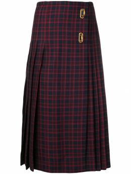 Burberry клетчатая юбка 'Arroux' со складками 8007250