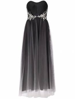 Marchesa Notte платье из тюля без бретелей N27G0811