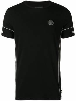 Philipp Plein футболка с нашивкой-логотипом S19CMTK2970PJY002N