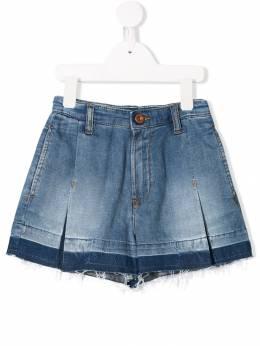 Diesel Kids джинсовые шорты со складками и необработанным краем 00J4BHKXB02