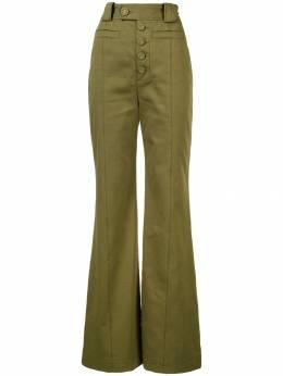 Proenza Schouler саржевые брюки с завышенной талией R1916004AC090