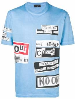 Dsquared2 футболка с графическим принтом S74GD0510S21600