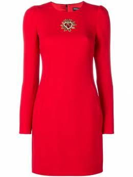 Dolce&Gabbana платье с нашивкой Sacred Heart F6C2VZFURDV