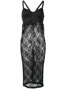 Dolce&Gabbana многослойное кружевное платье на бретелях F74F6TFLMPS