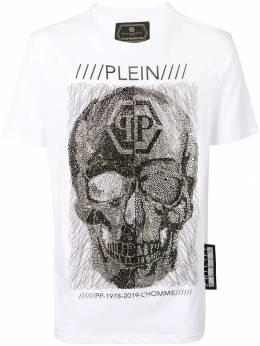 Philipp Plein футболка с отделкой кристаллами S19CMTK3096PJY002N