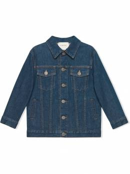 Gucci Kids джинсовая куртка с логотипом 'Gucci' 547827XDAC6