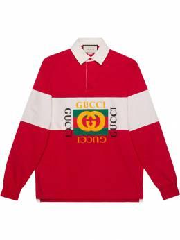 Gucci рубашка-поло оверсайз с логотипом 545800XJAG9