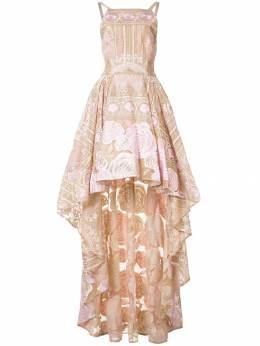 Marchesa Notte асимметричное платье с цветочным узором N10C0233