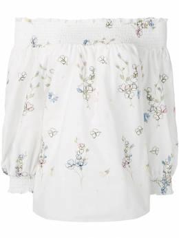 Blugirl рубашка с цветочной вышивкой 7556