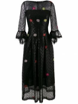 Talbot Runhof расклешенное кружевное платье с вышивкой ROTTERDAM3DT15