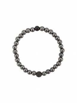 Nialaya Jewelry браслет с бусинами из гематита MCHCO027