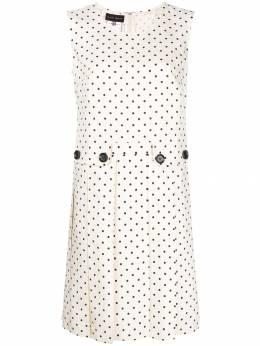 Talbot Runhof платье в горох со складками POOMA4DT40