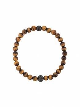 Nialaya Jewelry браслет с бусинами 'тигровый глаз' MCHCO021