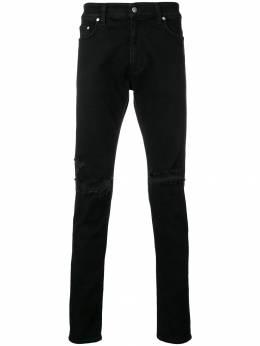 Represent джинсы скинни с прорезями 107002