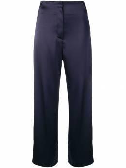 Nanushka атласные брюки 'Caribe' CARIBENAVYTECHSTAIN
