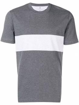 Brunello Cucinelli футболка с контрастной отделкой M0T611309GCP139