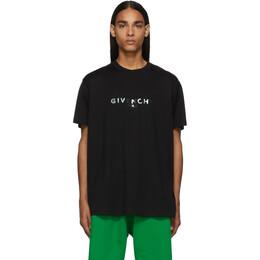 Givenchy Black Reflective Givenchy Paris T-Shirt BM70T93002