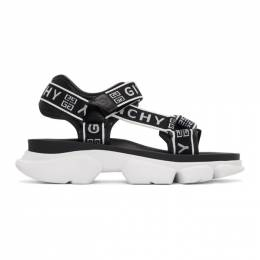 Givenchy Black and White 4G Jaw Sandals BH300NH0HH