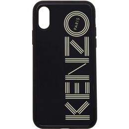 Kenzo Black Glow-In-The-Dark Logo iPhone X/XS Case 192387F03201001GB