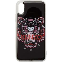 Kenzo Black 3D Tiger Logo iPhone X/XS Case 192387F03200701GB