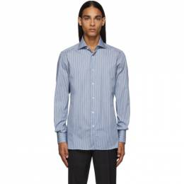 Ermenegildo Zegna Blue and White Stripe Shirt 601232 9MS0BA