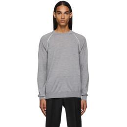 Ermenegildo Zegna Grey Wool Raglan Sweater UTM90 310