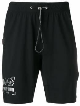 Philipp Plein спортивные шорты с логотипом S19CMJT0868PJO002N