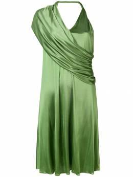Lanvin атласное платье с драпировкой RWDR203JTJ03P19