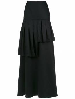 Adriana Degreas юбка макси с оборками SALG0148PRETO