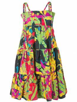 La Doublej расклешенное платье дизайна колор-блок DRE0057COT004ELE0001
