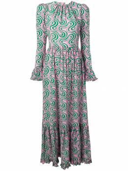 La Doublej платье Visconti с принтом DRE0070GEO001HEL0001