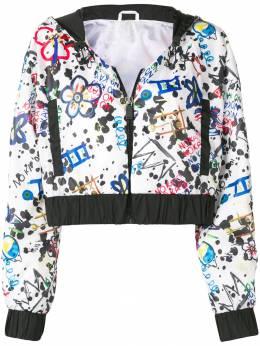 No Ka' Oi укороченная куртка с принтом P3CJKNOKW68791A0