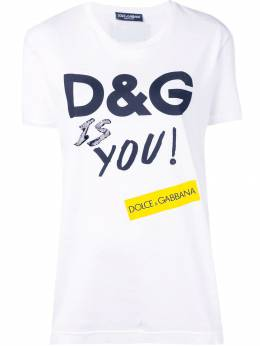 Dolce&Gabbana футболка с принтом D&G Is You F8K74ZHH7LS