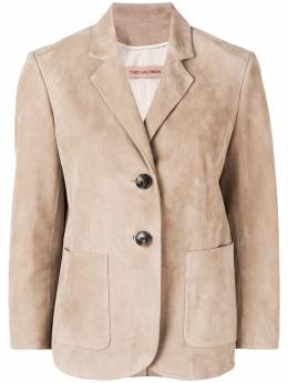 Yves Salomon кожаный пиджак 9EYV26261AVXX