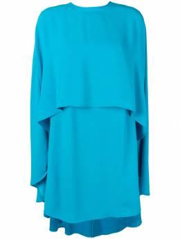 Sara Battaglia платье-кейп SB5024317
