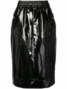 Kwaidan Editions лакированная юбка миди SS19S008