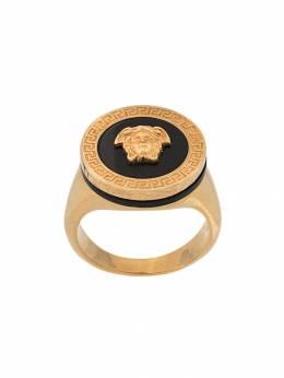 Versace кольцо-печатка Medusa с эмалью DG57285DJMR