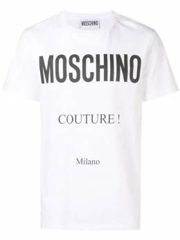 Moschino футболка с логотипом A07070240