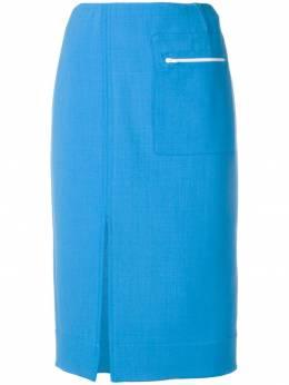 Kwaidan Editions юбка с разрезом спереди SS19S009