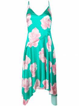 Fleur Du Mal платье миди с принтом роз DR01440464