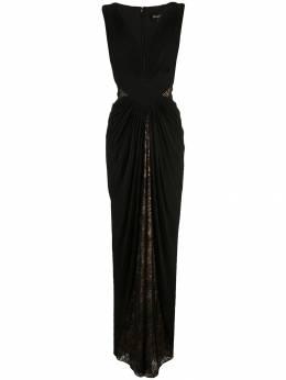 Tadashi Shoji вечернее платье с драпировкой и кружевом OM18080L