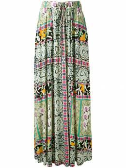 Etro плиссированная юбка с цветочным принтом 165524515