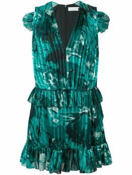 Victoria, Victoria Beckham плиссированное платье с оборками DRVV642SS19