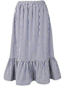 Comme Des Garcons Girl расклешенная юбка в полоску NCS002S19