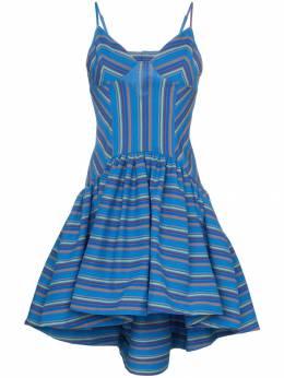 Rosie Assoulin расклешенное платье в полоску 191D23